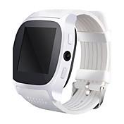 Relógio inteligente relógio t8 com slot para cartão SIM 2.0 mp câmera empurrar mensagem conectividade bluetooth android telefone