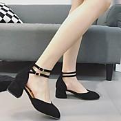 MujerSuelas con luz-Zapatos de taco bajo y Slip-Ons-Informal-PU-Negro Marrón
