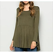 2016 ebey nueva camisa de vestir plisada irregular de manga larga
