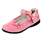 Chica-Tacón Bajo-Confort-Zapatos de taco bajo y Slip-Ons-Informal Fiesta y Noche-Semicuero-Negro Rojo Rosa