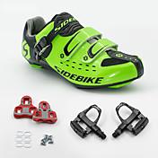 BOODUN/SIDEBIKE® スニーカー ロードバイクシューズ サイクリングシューズ(ペダル&クリート付き) 男女兼用 クッション ロードバイク 通気性メッシュ PUレザー サイクリング