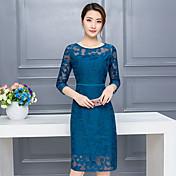 女子' 2016貴族の気質dongkuan長いセクションスリムシフォンレースのドレスのS春2017新しい波