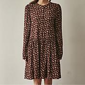 レトロな花のスカートの17春の新しい韓国語バージョンルースドレスシャツ女性ボトム