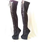 Mujer-Plataforma-Innovador Zapatos del club-Tacones-Fiesta y Noche-PU-Negro Rojo