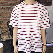 看護大学の風が薄い縞模様の緩いTシャツだった
