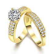 女性用 指輪 キュービックジルコニア ベーシック ユニーク 幾何学形 友情 コスチュームジュエリー 人造真珠 クロスオーバー ファッション ビンテージ ボヘミアスタイル パンクスタイル 愛らしいです あり ヒップホップ かわいいスタイル 欧米の トルコ語 シンプルなスタイル