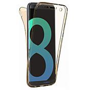 samsung galaxy s8 plus s8用ケースカバー360度オールインクルーシブスプリットtpu素材ソフトケース携帯ケースs7エッジs7 s6エッジs6 s5