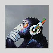 手描きの 動物 方形, クラシック 近代の キャンバス ハング塗装油絵 ホームデコレーション 1枚