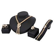 女性用 ジュエリーセット クラシック ファッション 欧米の 結婚式 パーティー Halloween 誕生日 婚約 日常 クリスマスギフト ラインストーン その他 リング 1×ネックレス 1×イヤリング(ペア) 1×ブレスレット