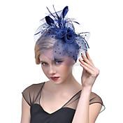 チュール 羽毛 ネット ヘッドドレス かぶと