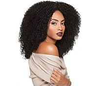 女性 人工毛ウィッグ キャップレス ロング丈 カーリー アフロ ブラック ブラックアメリカン風ウィッグ 黒人女性用 ナチュラルウィッグ コスチュームウィッグ