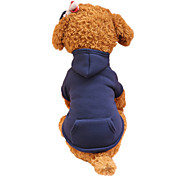 Perros Saco y Capucha Ropa para Perro Primavera/Otoño Un Color Moda
