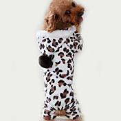 Gato Cachorro Macacão Pijamas Roupas para Cães Fofo Casual Leopardo Marron