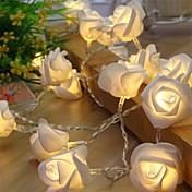 0.5W W Žice sa svjetlima 20 lm <5V 1.2 m 10 LED diode Meleg fehér Obala Srebrna