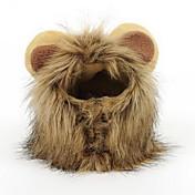 Peruca da juba do leão para o animal de estimação do gato do cão e do gato ajustável lavável cabelo luxuoso confortável do leão
