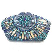 Mujer Bolsos PU Metal Bolso de Mano Cristal / Cristal para Boda Evento/Fiesta Formal Oficina y carrera Todas las Temporadas Azul Piscina