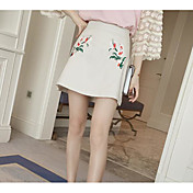 Mujer Mini Línea A Faldas - Estampado, Floral / Verano / Bordado / Patrones florales