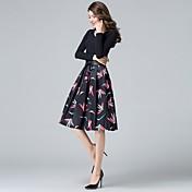 Mujer Casual/Diario Hasta la Rodilla Faldas Floral Estampado Animal