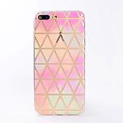 Para iPhone X iPhone 8 Carcasa Funda Transparente Diseños Cubierta Trasera Funda Diseño Geométrico Suave TPU para Apple iPhone X iPhone 8