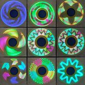 Håndspinnere Hånd Spinner Snurretop Legetøj Legetøj Ring Spinner Metal EDCStress og angst relief Focus Toy Kontor Skrivebord Legetøj