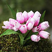 1Piece / Set 1 Rama Seda Tulipán Flor de Mesa Flores Artificiales