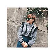 レディース カジュアル/普段着 春 夏 シャツ,シンプル シャツカラー チェック コットン 長袖 薄手