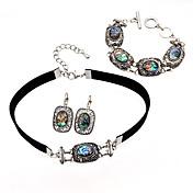 Mujer Juego de Joyas Collar / pulsera Personalizado Diseño Único Euramerican Joyería Destacada Moda Fiesta Ocasión especial Cumpleaños