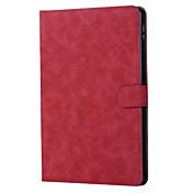 Para el ipad de la manzana 9.7 pulgadas 2017 cubrir las tabletas del cuero genuino que doblan la cubierta del tirón del imán para el ipad