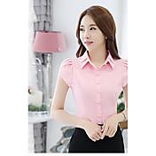 Mujer Trabajo Camisa, Cuello Camisero A Rayas