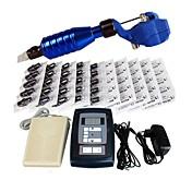 完全なタトゥーキット 1 xライニングとシェーディング用鋼入れ墨機械 ライニングとシェーディングのために2×合金の入れ墨機械 3 タトゥーマシン LED電源 インクは別々に出荷します