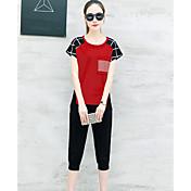 Mujer Camiseta - Ajedrez Pantalón
