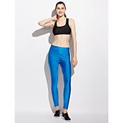Mujer Activo Alta cintura strenchy Activo Delgado Pantalones,Un Color Poliéster Licra Todo el Año