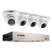 Kit de vigilancia zosi® 2.0mp 1080p hd 4 ch dvr tvi 4pcs sistema de cctv 2000TVL cámara de visión nocturna al aire libre