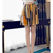 Mujer Sencillo Tiro Medio Microelástico Shorts Pantalones,Holgado Bloques