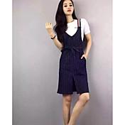 レディース カジュアル 夏 Tシャツ(21) ドレス スーツ,シンプル ラウンドネック ソリッド 半袖 マイクロエラスティック