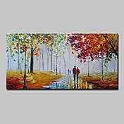 Pintada a mano Paisaje Horizontal,Abstracto Modern Un Panel Lienzos Pintura al óleo pintada a colgar For Decoración hogareña