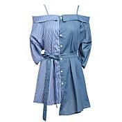 女性用 シース ドレス - プリント, ソリッド