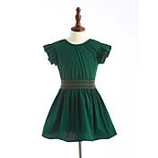 女の子の ゼブラプリント コットン ドレス 夏 半袖