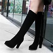 Mujer Zapatos Cuero Nobuck PU Invierno Otoño Confort Botas para Casual Negro