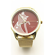 JUBAOLI Mulheres Relógio de Moda Único Criativo relógio Chinês Quartzo Lega Banda Dourada