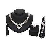 女性用 ネックレス ファッション クラシック ラインストーン 銀メッキ 用途 結婚式 パーティー 婚約 式典 ウェディングギフト