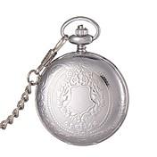 Hombre Reloj de Bolsillo Reloj de Moda Reloj de Pulsera Cuarzo Aleación Banda Plata