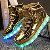 Chico Zapatos Semicuero Invierno Otoño Confort Zapatos con luz Zapatillas de deporte Paseo Cierre Autoadherente LED Para Deportivo Casual