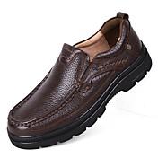 Hombre Zapatos de taco bajo y Slip-On Confort Zapatos formales Zapatos De Buceo Otoño Invierno Cuero real Cuero de Napa CueroCasual