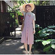 レディース カジュアル/普段着 夏 Tシャツ(21) スカート スーツ,シンプル ラウンドネック メッセージ 半袖