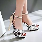 Feminino Sapatos Pele Nobuck Couro Ecológico Verão Conforto Sandálias Para Casual Preto Vermelho Azul