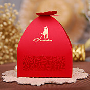 Cúbico Papel de tarjeta Papel perlado Soporte para regalo  Con Cajas de regalos Cajas de Regalos