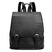 Mujer Bolsos PU Mochila Diseño / Estampado para Casual Todas las Temporadas Negro