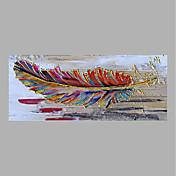 Pintada a mano Floral/Botánico Horizontal,Abstracto Un Panel Lienzos Pintura al óleo pintada a colgar For Decoración hogareña