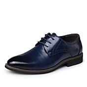 メンズ 靴 本革 レザー 春 秋 フォーマルシューズ オックスフォードシューズ コンビ 用途 パーティー ブラック イエロー Brown ブルー